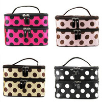 Wholesale S5Q Hanging Toiletry Travel Wash Organizer Case Cosmetic Makeup Dot Bag Holder AAADBL