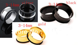 Wholesale Wholesales Mix colors size Stainless Steel single Flare Flesh Tunnel Piercing Ear Guage F128