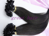 Cheap Brazilian Hair flat tip Best Natural Color Straight hair extension