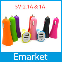 Wholesale Dual USB Port A A Car Charger Auto Power Adapter for iPhone S C S Samsung Galaxy S3 S4 Note iPad Tablet PC Sony LG