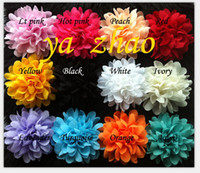 baby product price - price quot Chiffon ruffled Flower for baby hair accessory hair product baby headbands flower