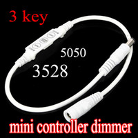 Wholesale Mini Controller Dimmer for RGB LED Strip string Light V A Keys