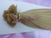 Brazilian Hair Natural Color Straight HOT SALE !!!!!!! flat tip #1#1B#2#4#22#60human VIRGIN remy HUMAN hair extension 100strands pack 3packs lot FULL HEAD free shipping