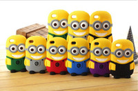 Wholesale 3D Cartoon Despicable Me Minion Minions Soft Silicone Rubber fragrance skin Case cover For Cell phone Apple iphone S S c DHL free