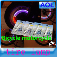Wholesale Sell like hot cakes patterns leds Bike Bicycle car Motorcycle Electric cars tire Spoke Wheel Valve LED Flash alarm Light Neon