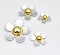 Charms Fashion Charms Super Deal Cheap Price Wholesale Resin Plastic Fashion Flat Back Silver Flowers 4 Pieces set Mobile Phone Jewellery Accessories