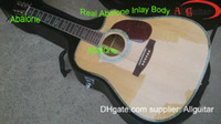 Wholesale Cutaway Acoustic D45 Guitar Dreadnought Guitar DC45 model Natural spruceTop AAA Back side acoustic guitar China Guitar