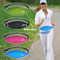 Wholesale Hot sale High quality Outdoor Sports Double Pouch Waist Belt Bag Packs waist bag for men and women Small body mass