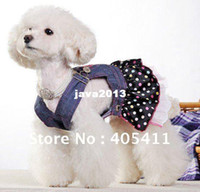 jean dresses and skirts - Quality goods pet clothes fashion colorful dots dog dress and retail chiffon Jean skirt