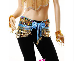 Wholesale Belly Dance Belt belly dance hip cloth girdle Latin dance sequined gold