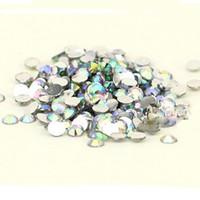 White Round Rhinestone & Decoration 1000 pcs Flat Back 3mm Acrylic ab rhinestones Crystal Wholesale for Nail Art Free Shipping