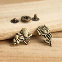 Wholesale Snap buttons Angel and Rose Shape Zinc Alloy metal snap fasteners sewing accessories DIY craft accessories
