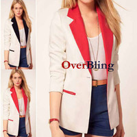Jackets Women Cotton Hot Womens Tunic Foldable Sleeve Blazer Jacket Tailored Suit Small Suit Hot Sale