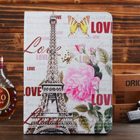 1pc Retro World Scenic PU Leather Tablet Case + PC Cover Sta...