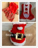 Clothing free shipping dog clothes - New design Christmas XMAS dog clothing cute Girl santa dress pet cloth styles