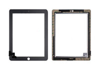 Wholesale 50PCS X Black White Touch Screen Digitizer Home Button with flex cable and adhesive Replacement for iPad