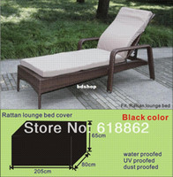 Wholesale Rattan lounge bed cover garden furniture cover water proofed cover for outdoor furniture
