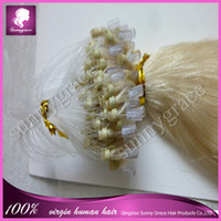 Brazilian Hair Blonde Straight Silky straight color #613 micro loop hair Brazilian hair extension