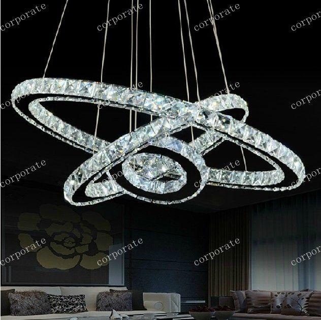 jj323 led lustre crystal chandelier lighting modern dining. Black Bedroom Furniture Sets. Home Design Ideas