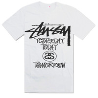 Wholesale Stussy T shirts Cotton sport shirt Short sleeve Hip hop fashion men s T shirt S XXXL