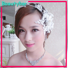 Wholesale Wedding Lace Crystal Hair Accessories Bridal Rhinestone Flower Headband Tiara Crown Fashion Party Jewelry For Woman