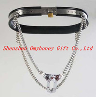 Wholesale Bondage Stainless Steel Female Invisable Lockable Chastity Devices Belt Hand Polished SM189
