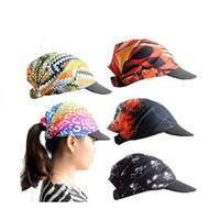 Wholesale Unisex Dustproof Sweat absorbtion Holiday Stretchable Turban Hat with peak Headband Wrap Cap Headwrap Many Colours Hallowmas