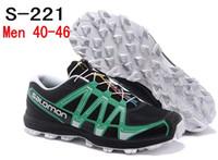 2014 New Arrived Salomon Fellraiser Black Running Shoes Men'...