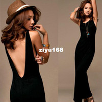 Casual Dresses V_Neck A Line please tell me size and color!2014 Free shipping Sexy Womens Boho Backless Beach Holiday Party Long Maxi Dress D0048
