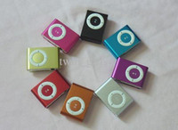 Wholesale Metal Case Mini Clip MP3 Player With Earphone USB Cable
