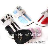 Compra Zapatos de pp-4pcs / set La nueva moda de los cargadores cómodos zapatos impermeables para los zapatos Pequeño perro grande para mascotas, Anti Slip cremallera zapatos del perro, envío libre