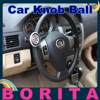 Steering Gear Car Steering Wheel Knob Ball  Car Steering Wheel Knob Ball Hand Control Power Handle Grip Spinner Silver Blue Red Black