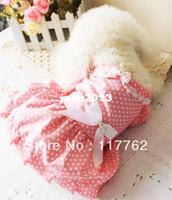 Розничная Cute Pink домашних собак собаки платье принцессы Бесплатная доставка пальто собаки платье