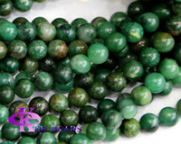 Angel africa music - Discount Natural Genuine Africa Green Jade Round Loose Stone Beads mm Fit Jewelry DIY Necklaces or Bracelets quot