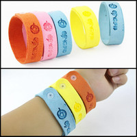 Wholesale 50PCS High Quality Mosquito Repellent Camping Mountain Climbing Hiking Bracelets Anti Mosquito Pure Natural Baby Wristband Hand Ring