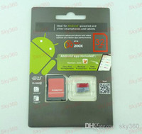 Wholesale Android robot GB Class Micro sd card TF Memory Card SDHC Cards Free Adapter and Red Retail Package For Smartphone storage