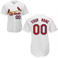 Baseball custom baseball jersey - Cheap Baseball Jerseys Custom Made Cardinals Jersey Customized Embroidered Personalized Name Number Team Logo White American Wear