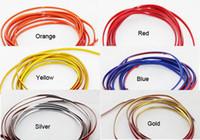 interior door handles - Orange Blue Red Silver Universal M Flexible Trim For Car Interior Exterior Moulding Strip Decorative Line Cable