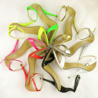 Women high heel sandals - New arrived Vogue Color women T stage Clasic Dancing High Heel Sandals party wedding shoes and retail