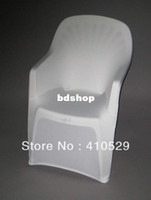 Polyester / Cotton Yes Plain white Spandex chair covers Free Shipping plastic beach chair chair Arm chair cover