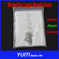 Door White 0063 Home Alarm System Wired Window Door Contact Magnetic Sensor Security Alarm System For PSTN And GSM Free Shipping YUITI