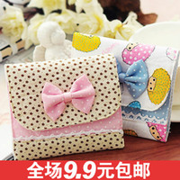 Bamboo Bedding Eco Friendly 5436 Korea cute bow napkin bag Pouch night with a sanitary napkin package Korea