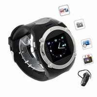 Wholesale 1 Inch Wrist Phone Watch Cell phone MQ998 Bluetooth Headset GSM Touch Screen Quad Band Bluetooth MP3 FM Camera Smart Watch Unlocked