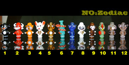 E Cigars Animal Drip Tips Glass 12 Zodiac Drip Tip Fit For EGO 510 Vivi Nova DCT Atomizers Electronic Cigars Hot Selling Mouthpiece