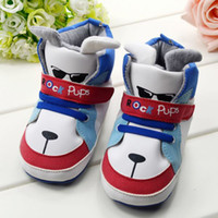 Unisex baby rock shoes - children s shoe rock pups Cute cartoon Baby Shoes BOYS Toddler soft sole baby shoes Warm