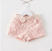 Wholesale New Brand Clothing Children Lace Bow Shorts Girls Cute Butterfly Lace Fashion Beach Shorts Kid Casual Pants
