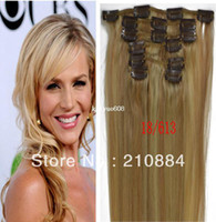 """Yes Clip-In C-001 Wholesale - new Hot sale Color 18 613# 15"""" 18"""" 20"""" 22"""" Full Head Remy Human Hair 7pcs Brazilian Virgin Hair clip in hair extensions Fahion"""