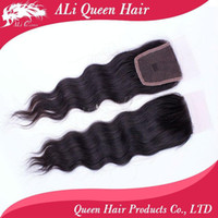 Wholesale Queen hair products closure brazilian wave hair Lace Top Closure quot quot wave quot quot natural Color