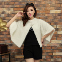 Men Alpaca Cardigan sweaters Amidst mink cashmere yarn shawl cardigan new women's hats ladies short paragraph knitted