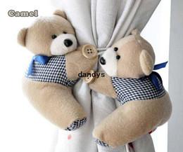 Wholesale Pair Window Curtain Hook Tieback Cute Bear Curtain Buckle Hangers Belt dandys